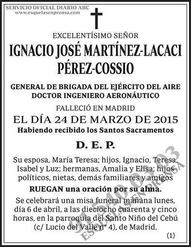 Ignacio José Martínez-Lacaci Pérez-Cossio